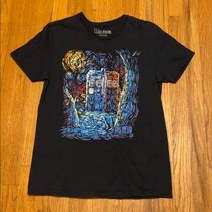 Dr. Who Van Gogh tardis shirt Medium